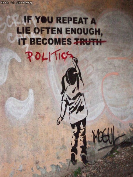 Lie Often Enough and It Becomes Politics