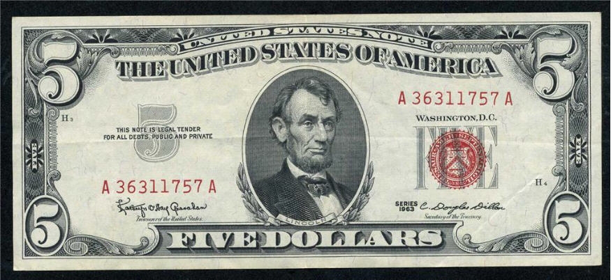United States Note - series 1963
