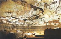 The painted caves of Lascaux in the Dordogne region of France