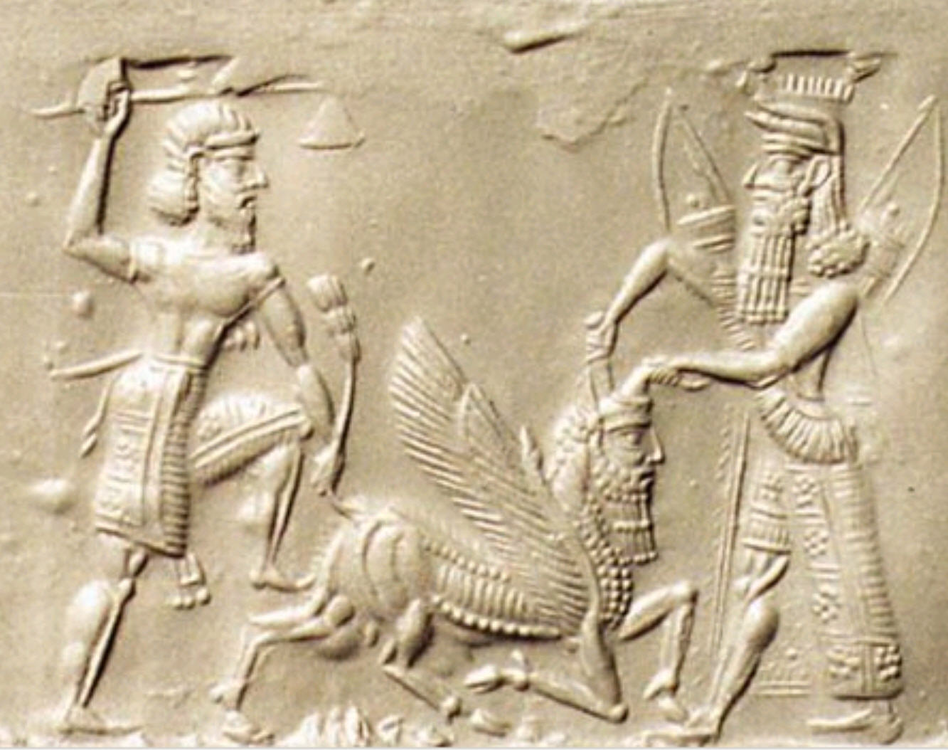 Enkidu and Gilgamesh Slaying the Bull of Heaven
