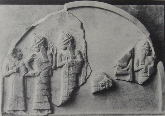 Gudea of Lagash grasped by Ningishzida