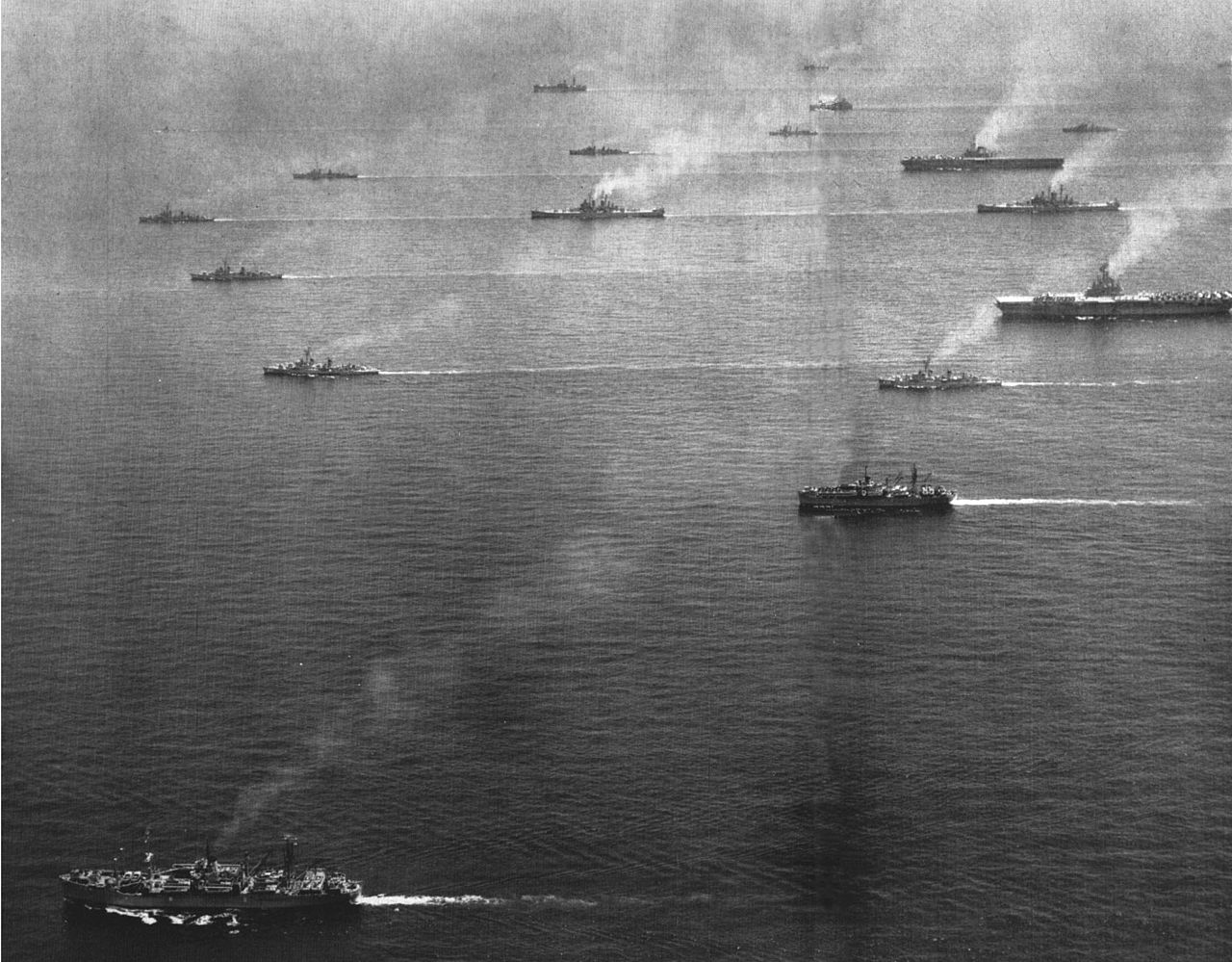 Sixth Fleet underway in the Mediterranean c. 1954