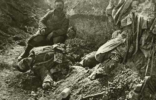 WWI Battle at Verdun - French carnage