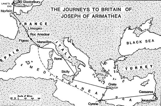 Joseph of Arimathea's journey to Britain