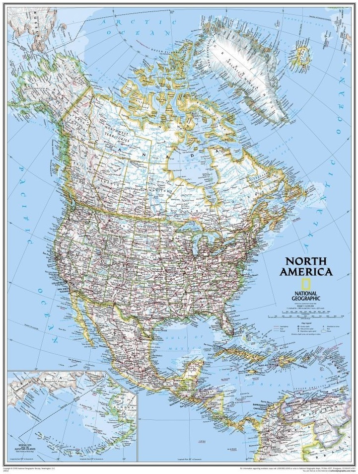 North American Classic Map