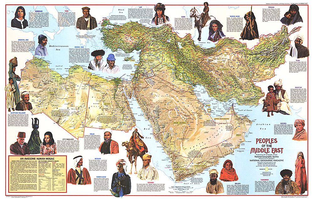 Map of the Peoples of the Middle East