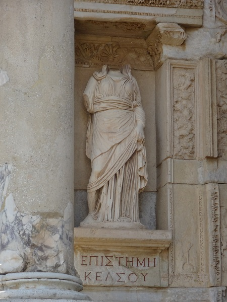 Personification of Episteme in Celsus Library in Ephesus Turkey