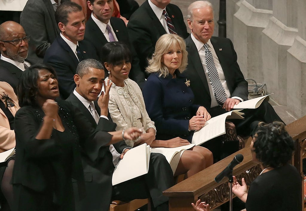 Barack and Michelle Obama at National Prayer Service January 21, 2009