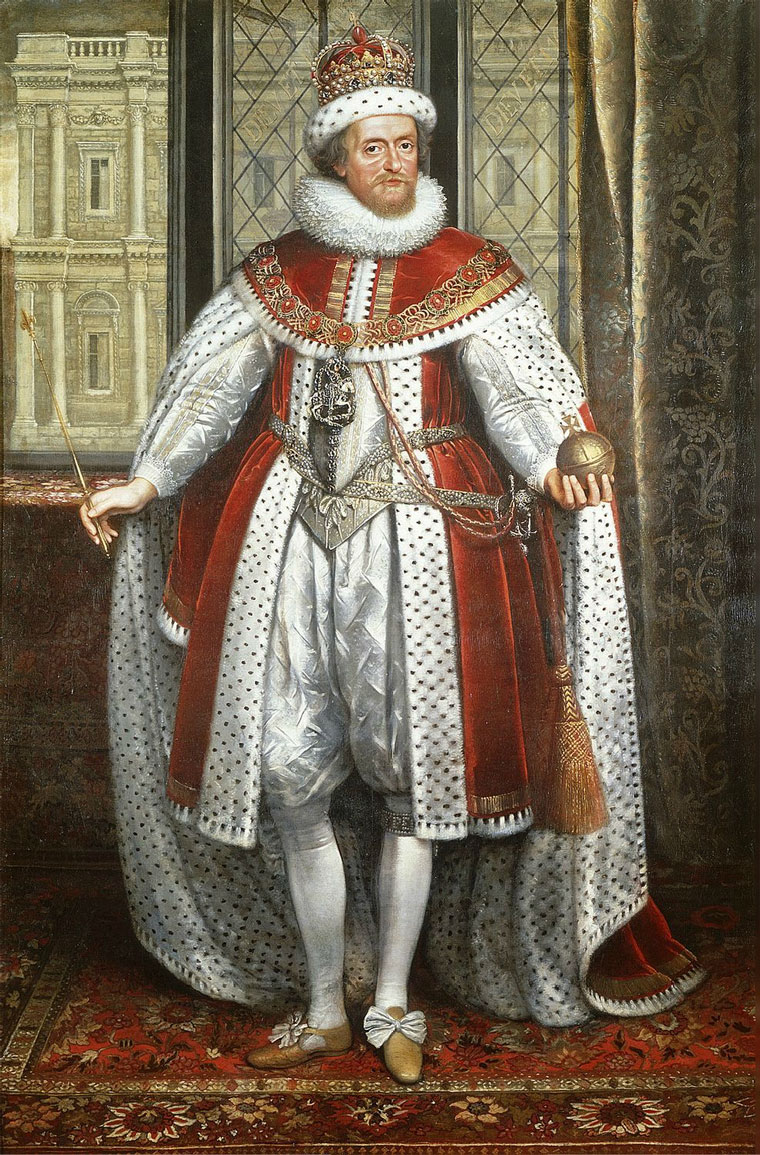 James I by Paul Von Somer c. 1620