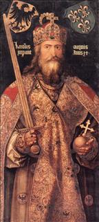 Charlemagne - meaning Charles the Great, 2 April 742 - 28 January 814 was King of the Franks from 768 to his death