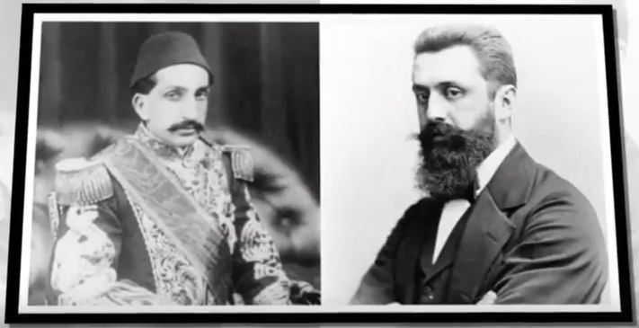 Sultan Abdul Hamid II and Theodor Herzl
