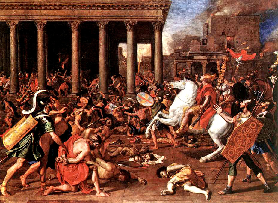 Destruction of the Temple at Jerusalem by Nicolar Poussin 1637